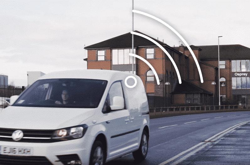Van with wireless symbol